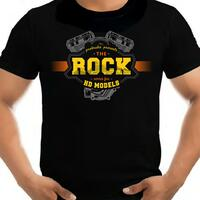 T-Shirt Rock vintage yellow