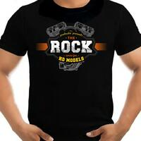 T-Shirt Rock vintage white